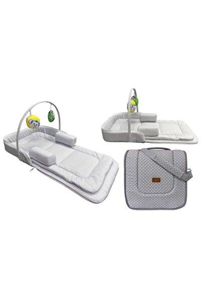 Çok Amaçlı Portatif Bebek Yatağı 75x40 Cm - Gri