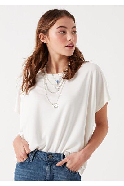 Kadın Beyaz Modal Tişört