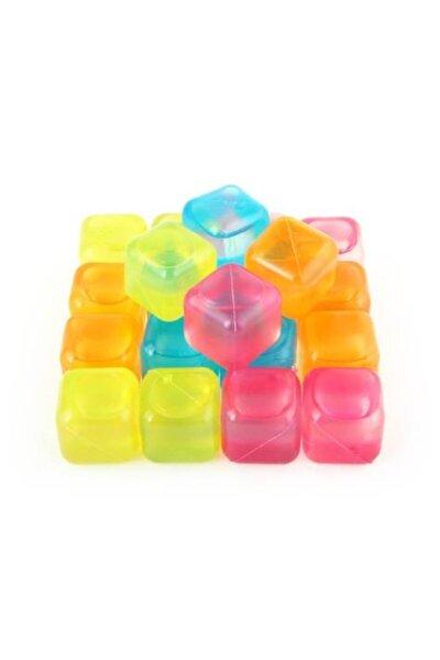 Tükenmez Buz Kalıbı Buz Küpleri Renkli Plastik Bu Küpü 20adet