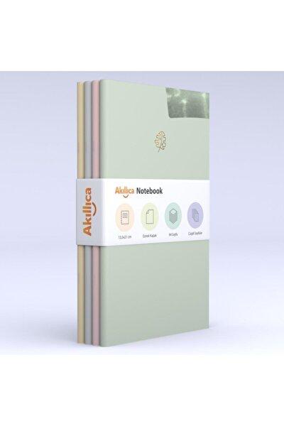 Notebook 4'lü Defter Set Soft Çizgili Pastel Notebook 13,5x21 Cm