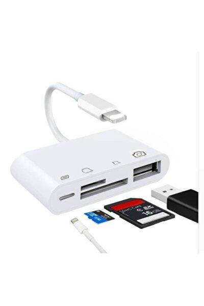 4in1 Iphone,ipad Lightning To Tf,sd Card Usb Kamera Adaptörü Nk108l