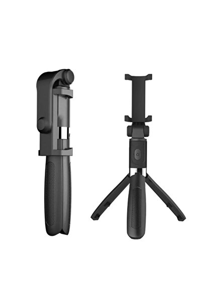 Selfie Çubuğu Selfie Kayıtlı L01 Bluetooth Kumanda Selfie Tripod Monopod Telefon Standı (renk:siyah)