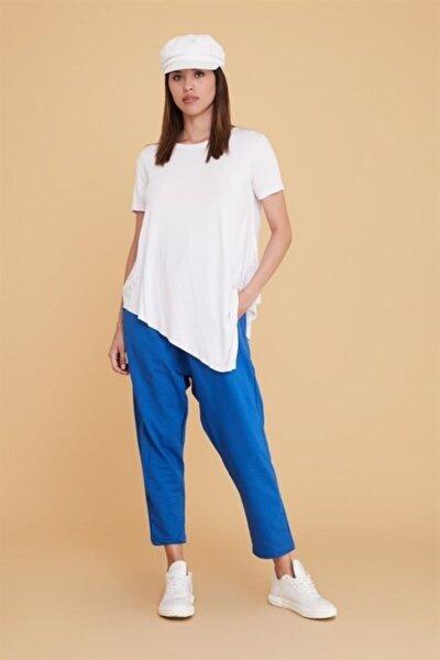 Kadın Piku Iki Iplik Geniş Kalıp Şalvar Pantalon
