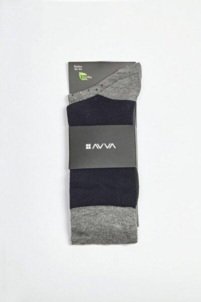 Erkek Lacivert Desenli Soket Çorap A02y8515