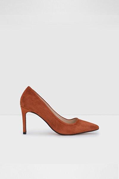 Kadın Kiremit Rengi Topuklu Ayakkabı
