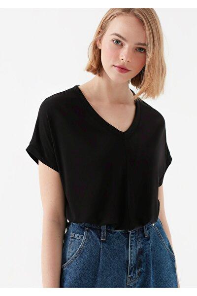 Kadın Basıc V Yaka Tişört