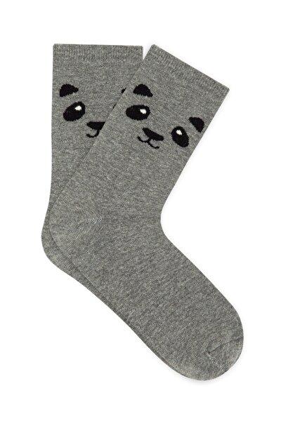Panda Baskılı Soket Çorap 195151-27063