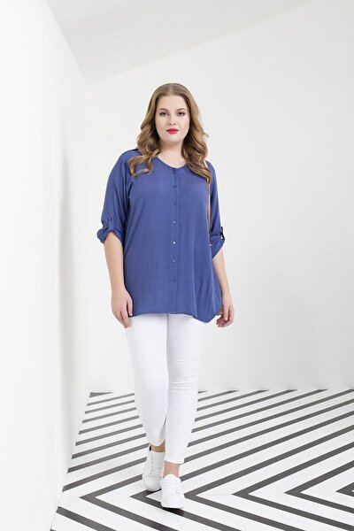 Kadın Beyaz Kanvas Yüksek Bel Dar Paça Pantolon Rg1251p