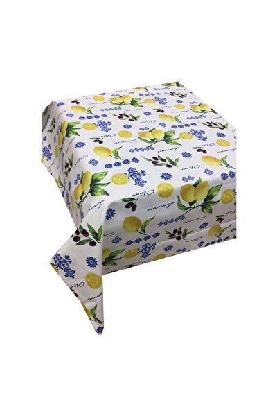 Sarı Limon Zeytin Mutfak Desen Nano Kumaş Dertsiz Mutfak Masa Örtüsü 140x260