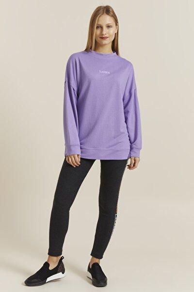 Kadın Violet LADIES Nakışlı Oversize Tunik Sweatshirt 19301