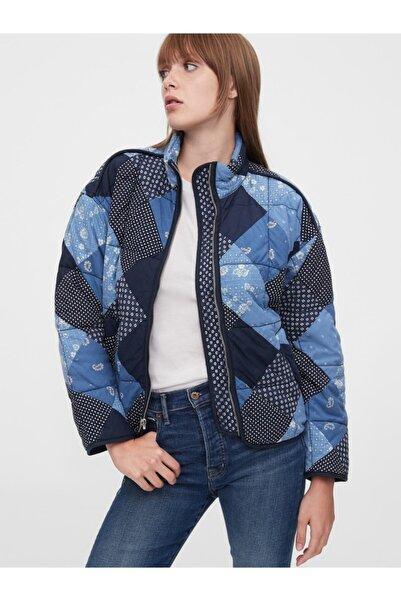 Kadın Lacivert Patchwork Ceket