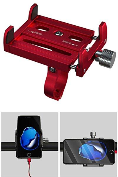 Bisiklet Ve Motorsiklet Gidonları Için Premium Telefon Tutucu , Metal Vidalı