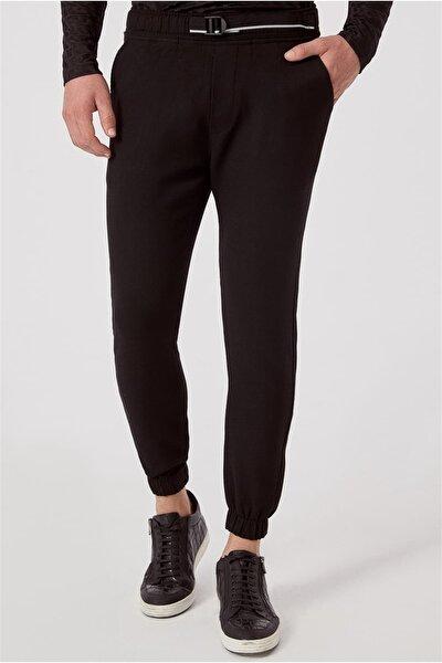 ATP 017 Slim Fit Siyah Spor Pantolon