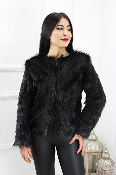 Kadın Siyah Ceket Kısa 66709