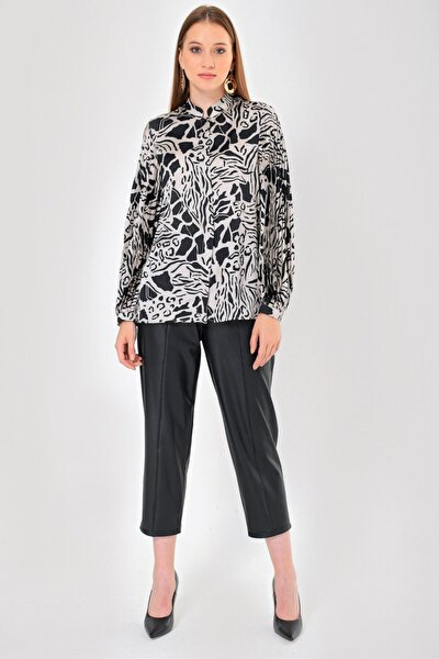 Kadın Siyah Bluz Y21240589