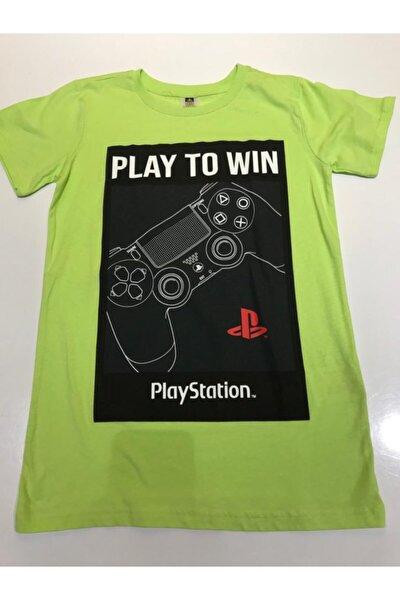 Çocuk Yeşil T-shirt 11-12 Yaş