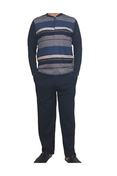 Erkek Lacivert Uzun Kollu Pijama Takımı