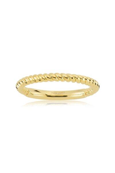 Mini Halat Dizayn, Altın Rengi Gümüş Yüzük