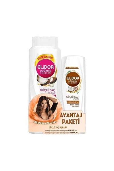 Şampuan Hindistan Cevizi Yağı 650 ml + Saç Kremi 200 ml