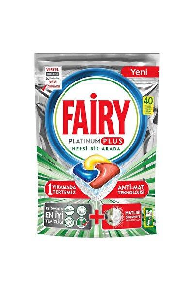 Platinum Plus 40 Yıkama Bulaşık Makinesi Deterjanı Kapsülü