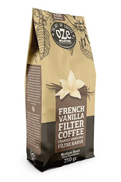 Vanilya Aromalı Filtre Kahve 250 Gr. (french Press Için Öğütülmüş )