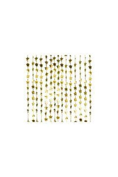 Metalik Gold Işıltılı Yıldızlı Fon  Kapı Duvar Perdesi