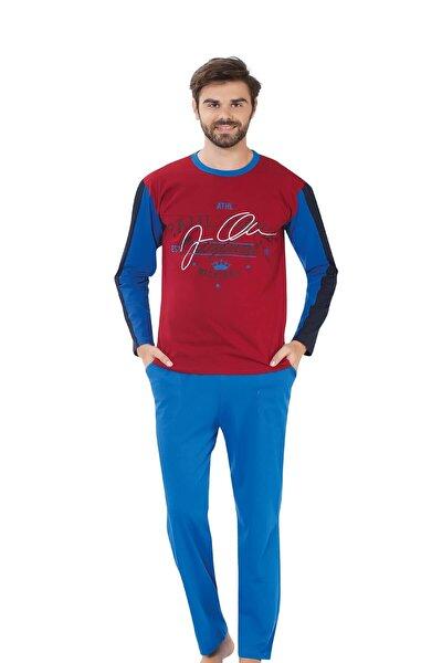 Erkek Mavi Battal Uzun Kollu Pijama