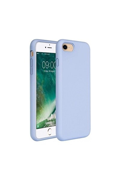 Apple iPhone 7 - 8 - SE 2020 İçi Kadife Lansman Silikon Mavi Kılıf
