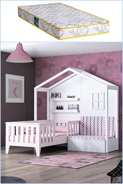 Montessori Yatak, Çeşme Sedirli Montessori Yatak Pembe + Comfort Yatak