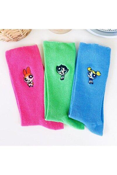 Powerpuff Girls Nakışlı Set Çorap