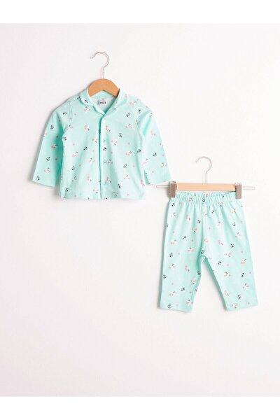 Kız Çocuk Yeşil Pijama Takım