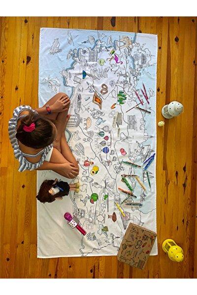 Map'es Türkiye Haritası Masa Örtüsü 70x120cm 12'li Stabilo Kalemle