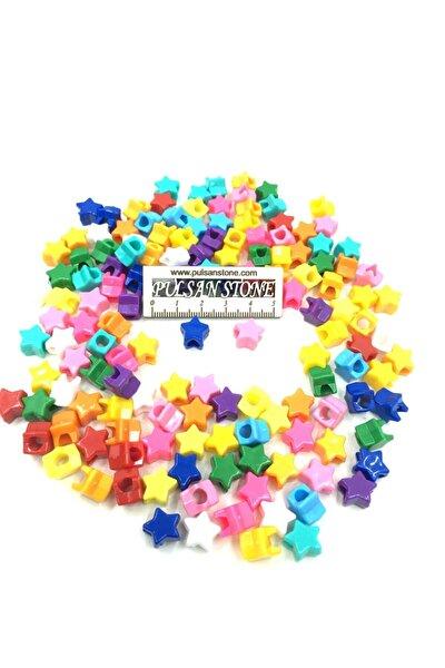 Karışık Renk Yıldız Boncuk (25 Gram)