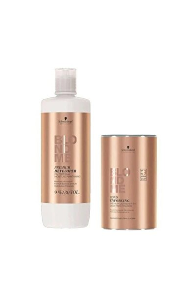 Blondme Premium Lift+9 Açıcı 450 G + Oksidan %9 30 Volume 1000 Ml