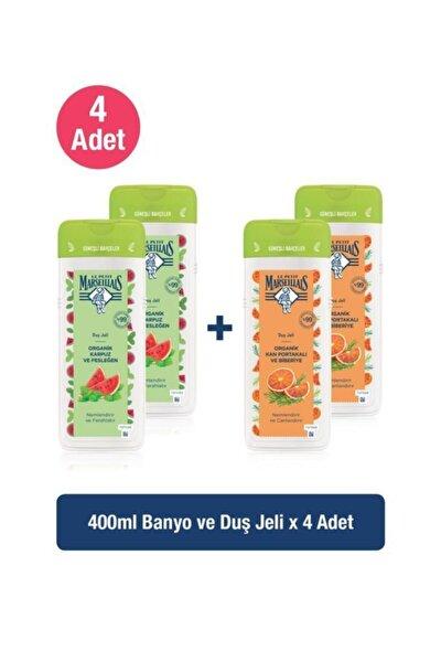 Lpm Organik Karpuz Ve Fesleğen 400 Mlx2+organik Kan Portakalı Ve Biberiye 400 Mlx2 Duş Jeli Seti
