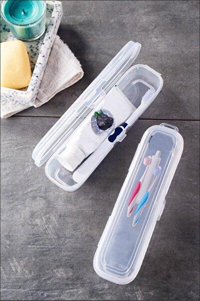 Diş Fırçası Ve Macun Kutusu-sağlık Onaylı Plastik-23,5x6x4,5cm