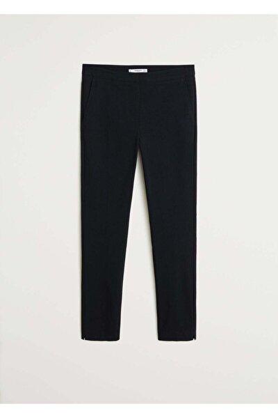Kadın Siyah Kısa Paçalı Skinny Pantolon 77030533