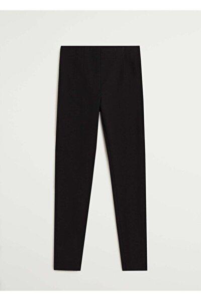 Kadın Siyah Beli Elastik Pantolon 77072507
