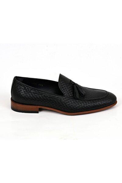 Erkek Siyah Örgülü Ayakkabı