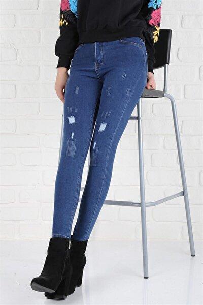 Kadın Mavi Kot Pantolon
