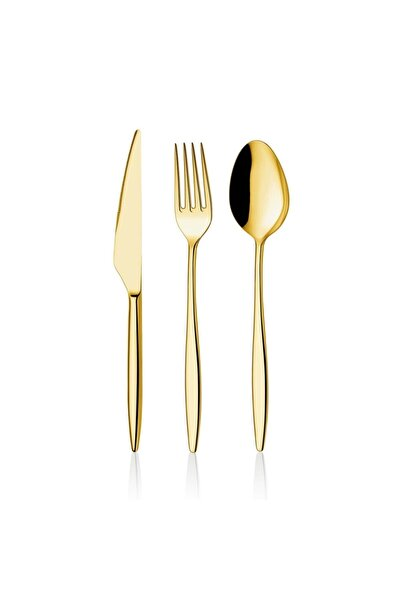 Fırat Titanyum Gold Gold Tatlı Kaşığı 6 Adet Yakut