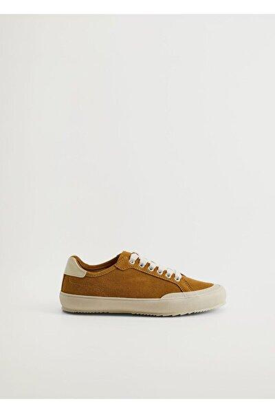 Kadın Kahverengi Deri Spor Ayakkabı