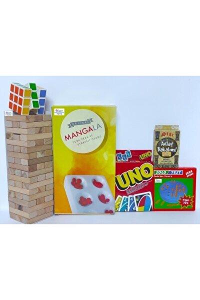 Denge Oyunu-UNO-Anlat Bakalım-Zeka Küpü-Mangala-Solo Test 6lı Set