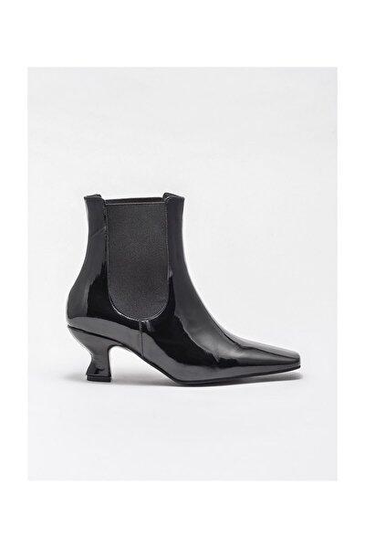 Siyah Kadın Topuklu Bot