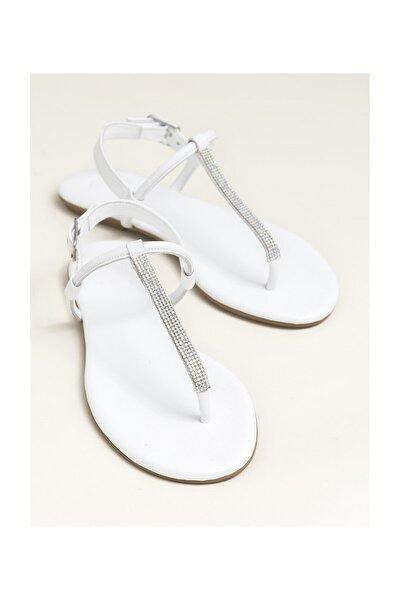 ROSALINA Hakiki Deri Beyaz Kadın Sandalet 20YLT443029