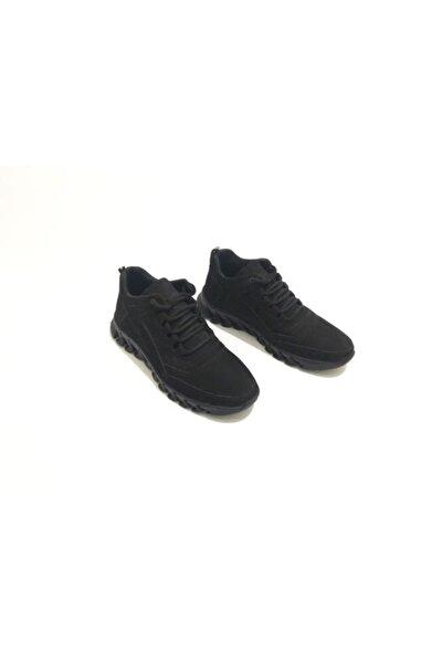 Erkek Siyah Süet Hakiki Deri Kışlık Ayakkabı
