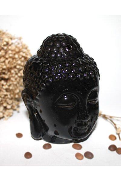 Buhurdanlık Dekoratif Siyah Buda Kafalı Buhurdanlık 13 Cm