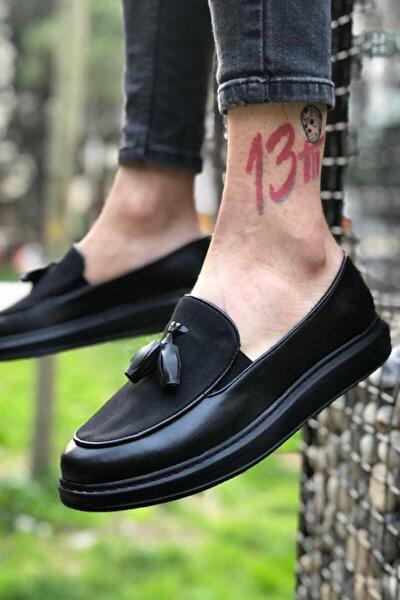 Erkek Siyah Spor Ayakkabı CH002