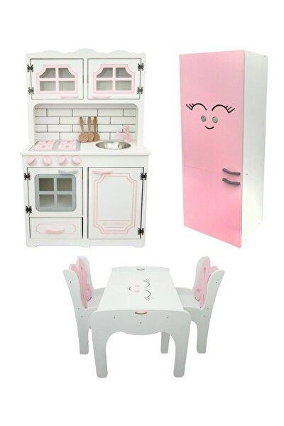 Ahşap Çocuk Oyun Mutfak Seti-demonte
