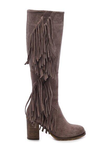 Hakiki Deri Vizon Kadın Çizme